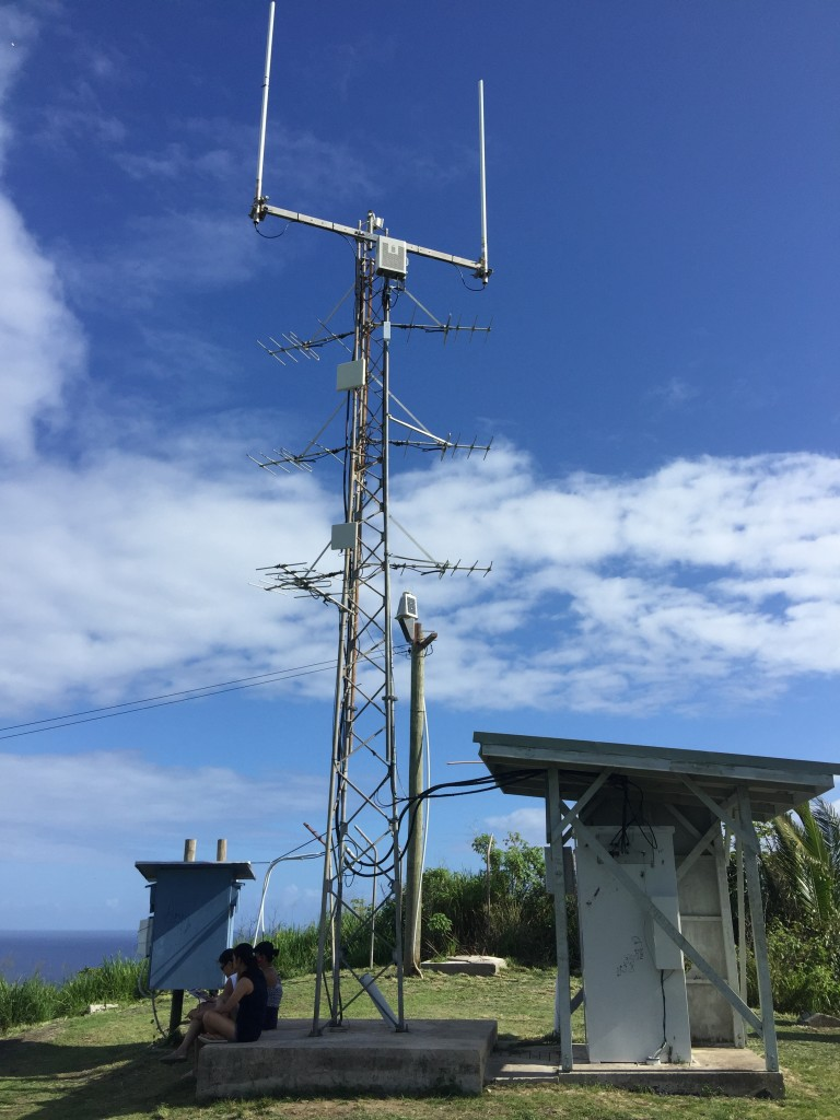 Aitutaki Communications Tower at the Maunga Pu Summit.