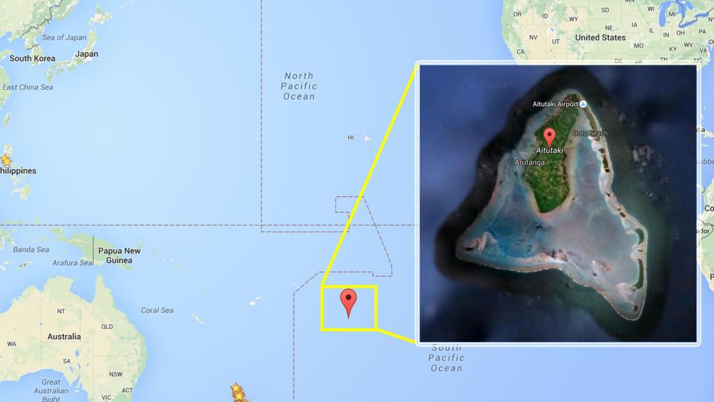 Aitutaki Map