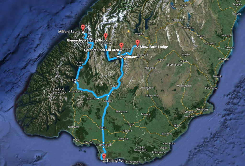 Southland Driving Route