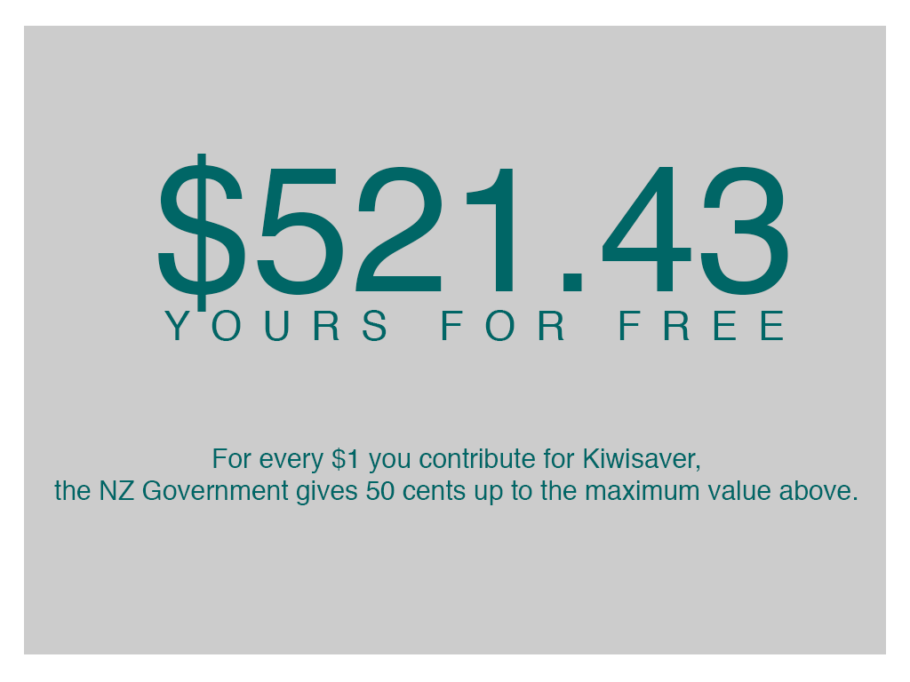$521.43 Government Topup on Kiwisaver